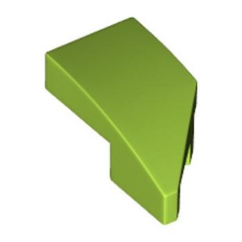 LEGO 6296103 LEFT PLATE 1X2, W/ BOW, 45 DEG. CUT - BRIGHT YELLOWISH GREEN