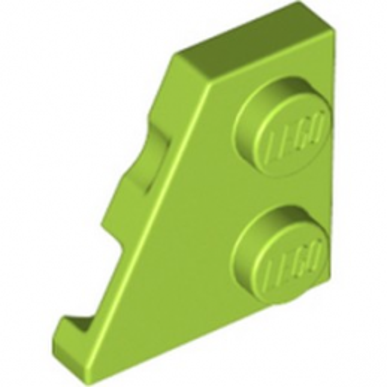 LEGO 6258408 PLATE 2x2 27DEG LEFT - BRIGHT YELLOWISH GREEN