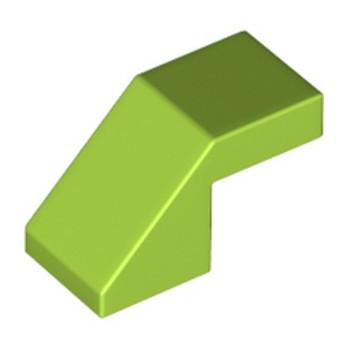 LEGO 6258413 ROOF TILE 1X2, DEG. 45, W/O KNOBS - BRIGHT YELLOWISH GREEN