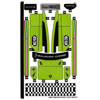 Stickers Lego® Speed Champions 76899