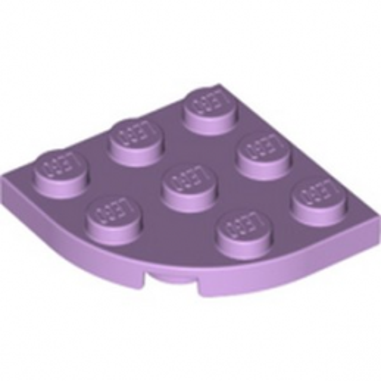 LEGO 6325970 PLATE 3X3, 1/4 CIRCLE - LAVENDER