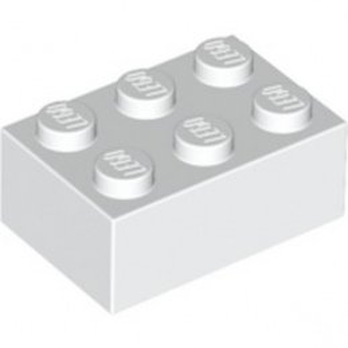 LEGO 300201 BRICK 2X3 - WHITE