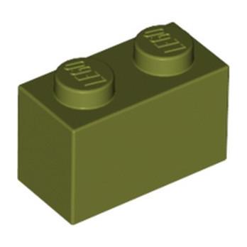 LEGO 6024722  BRIQUE 1X2 - OLIVE GREEN