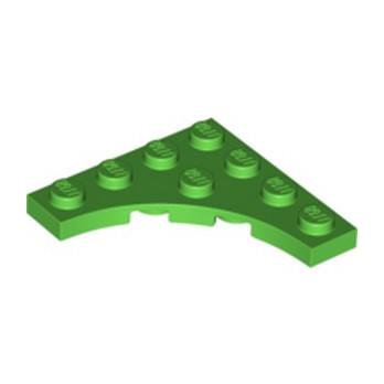 LEGO 6331548 PLATE 4X4, W/ ARCH - BRIGHT GREEN