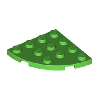 LEGO 6070506 PLATE 4X4, 1/4 CIRCLE - BRIGHT GREEN