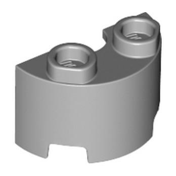 LEGO 6311384 WALL ½ CIRCLE, 1X2, W/ 4.85 HOLE - MEDIUM STONE GREY