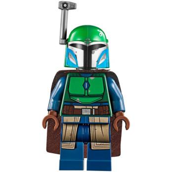 Minifigure LEGO® : Star Wars - Mandalorian warrior - Dark Green