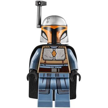 Minifigure LEGO® : Star Wars - Mandalorian warrior - Medium Stone Grey