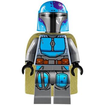Minifigure LEGO® : Star Wars - Mandalorian warrior - Dark Azur