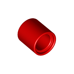 LEGO 6093950 TUBE BEAM 1x1 - RED