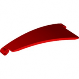 LEGO 6334504 LEFT PANEL CURVED 5X13X2 (N°50) - ROUGE