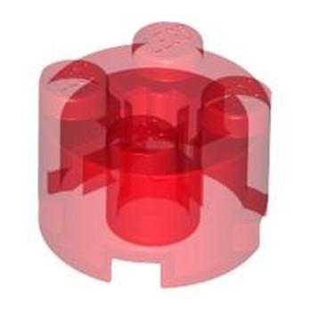 LEGO 6334501 BRICK 2X2 ROUND II - TRANSPARENT RED