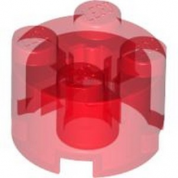 LEGO 6334501 BRICK 2X2 ROUND II - TRANSPARENT RED