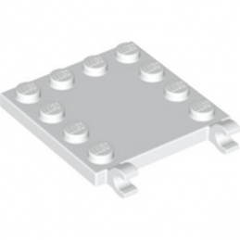 LEGO 6310187 PLATE 4X4 W/VERTICAL HOLDER - WHITE