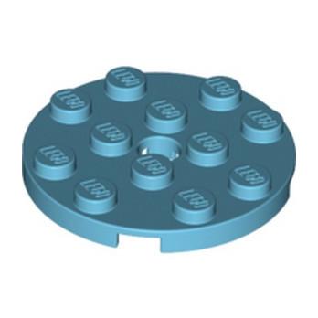 LEGO 6102828 PLATE ROND 4X4 - MEDIUM AZUR