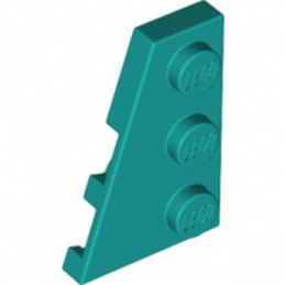 LEGO 6291004 LEFT PLATE 2X3 W/ANGLE - BRIGHT BLUEGREEN