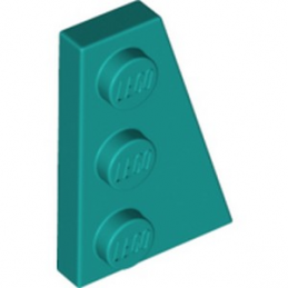 LEGO 6291006 RIGHT PLATE 2X3 W/ANGLE - BRIGHT BLUEGREEN