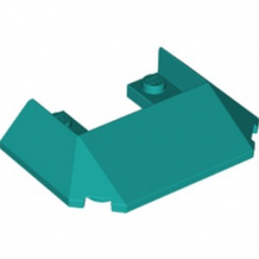 LEGO 6328999 ROOF FRONT 6X4X1 - BRIGHT BLUEGREEN