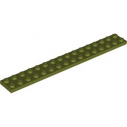 LEGO 6331218 PLATE 2X16 - OLIVE GREEN