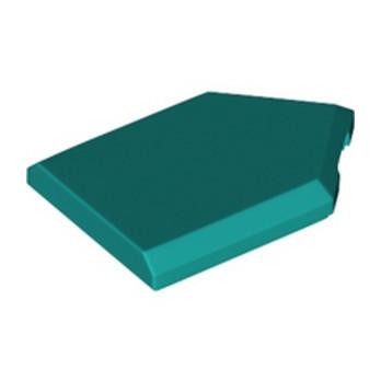 LEGO 6328050 FLAT TILE 2X3 W/ANGLE - BRIGHT BLUEGREEN