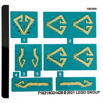 Stickers Lego® Ninjago 71746