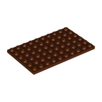 LEGO 6338230 PLATE 6X10 - REDDISH BROWN