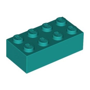 LEGO 6249422 BRICK 2X4 - BRIGHT BLUEGREEN