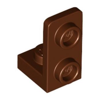 LEGO 6341553 PLATE 1X1, W/ 1.5 PLATE 1X2, UPWARDS - REDDISH BROWN