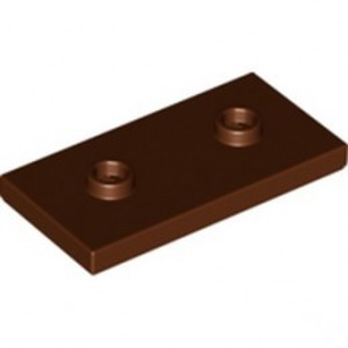 LEGO 6307618 PLATE 2X4, W/ 2 KNOBS - REDDISH BROWN