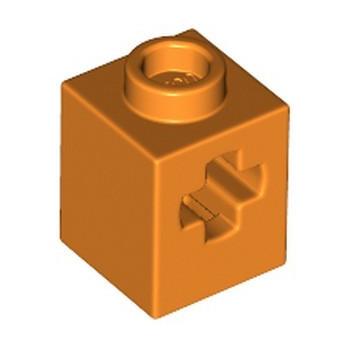 LEGO 6339309 TECHNIC BIRCK 1X2 WITH CROSS HOLE - ORANGE