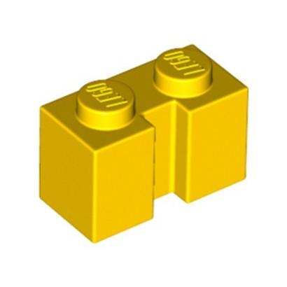 LEGO 6288087 BRICK 1X2 W. GROOVE - YELLOW