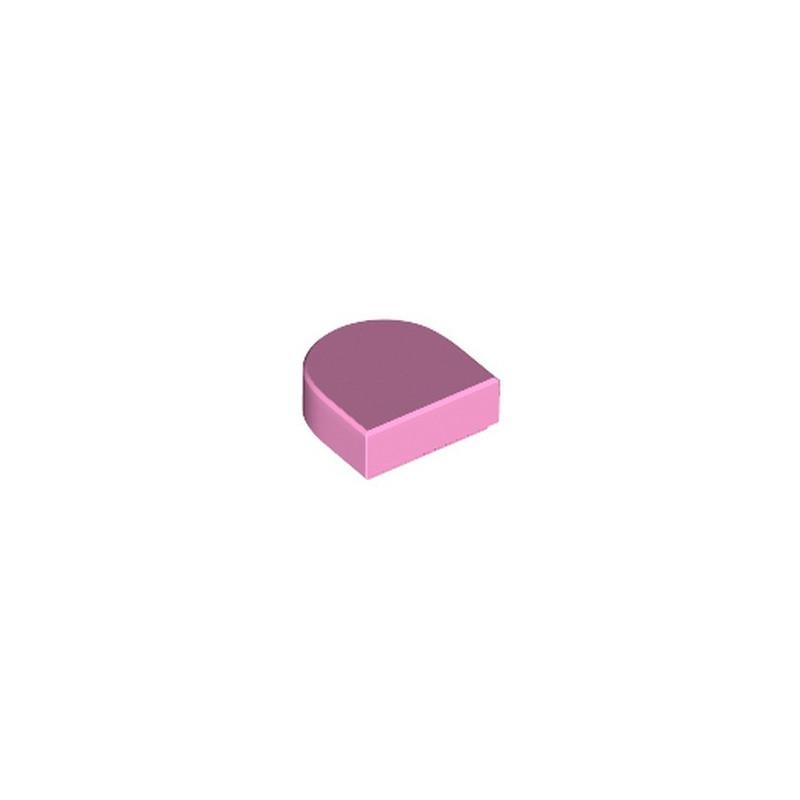 LEGO 6258972 FLAT TILE 1X1, 1/2 CIRCLE - BRIGHT PINK