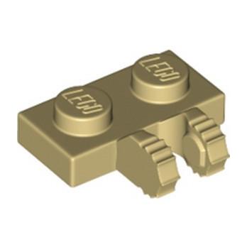 LEGO 6338180 PLATE 1X2 W/FORK, VERTICAL - TAN