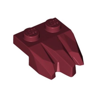 LEGO 6329652 PLATE 2X3, ROCK - NEW DARK RED