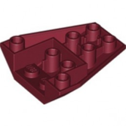 LEGO 6327861 ROOF TILE 4X2/18° INV. - NEW DARK RED