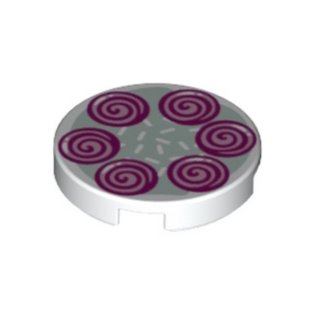 LEGO 6324696 FLAT TILE 2X2, ROUND PRINTED FRIENDS