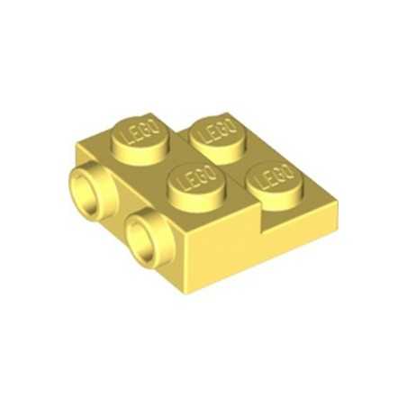 LEGO 6296521 PLATE 2X2X2/3 W. 2. HOR. KNOB - COOL YELLOW