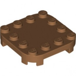 LEGO 6308873 PLATE 4X4X2/3 CIRCLE W/ REDUCED KNOBS - MEDIUM NOUGAT