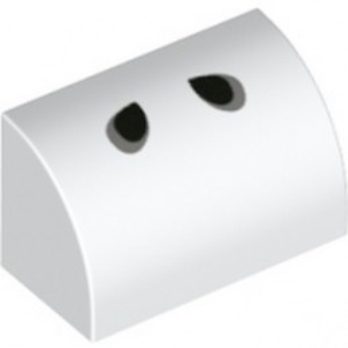 LEGO 6310495 BRIQUE 1X2 PRINTED - WHITE