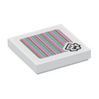 LEGO 6317984 PLATE 2X2, PRINTED SUPER MARIO - WHITE