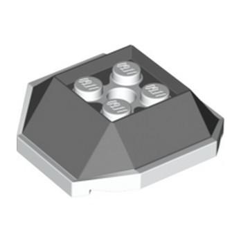 LEGO 6315380 DESIGN BRICK 4X4 W/CUT ANGLE  - DARK STONE GREY