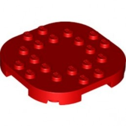 LEGO 6294705 PLATE, 6X6X2/3 CIRCLE W/ REDUCED KNOBS - RED