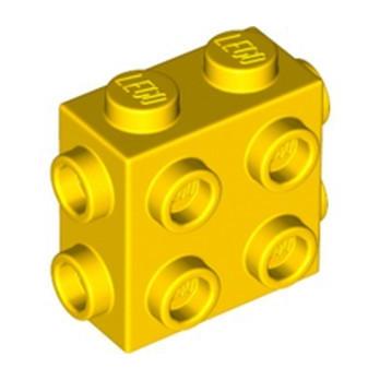 LEGO 6310247 BRICK 1X2X1 2/3, W/ 8 KNOBS - YELLOW