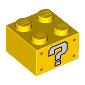 LEGO 6310504 BRIQUE 2X2, IMPRIME SUPER MARIO