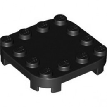 LEGO 6312482 PLATE 4X4X2/3 CIRCLE W/ REDUCED KNOBS - BLACK