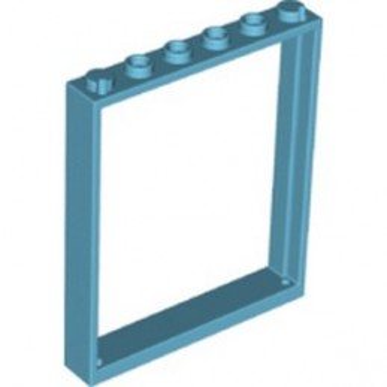 LEGO 6331407 WINDOW 1X6X6 - MEDIUM AZUR