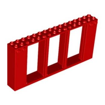 LEGO 6304962 DOOR / WINDOW 2X16X6 - RED
