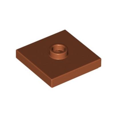 LEGO 6315197 PLATE 2X2 W 1 KNOB - DARK ORANGE