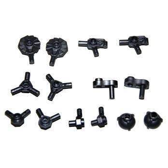 LEGO 6273229 SET OF 14 ACCESSORIES/ WEAPON - TITANIUM METALLIC