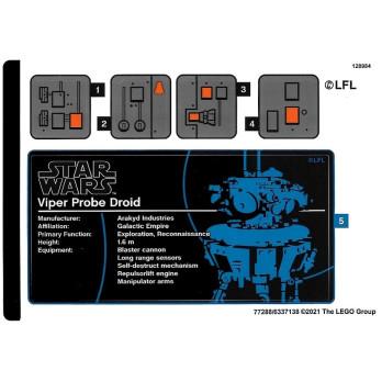 Stickers / Autocollant Lego Star Wars 75306
